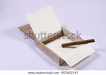 A pack of cigars. - stock photo
