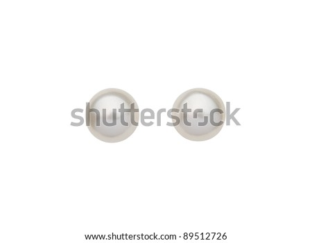 A pair of beautiful pearl earrings - stock photo