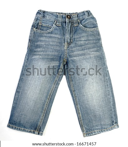 A pair of children's jeans - stock photo