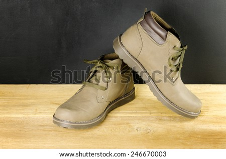 A pair of hiking shoes - stock photo