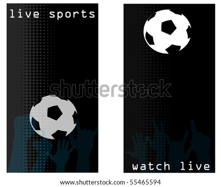 A pair of live sports flyers, cards or tickets for a sports bar or club, jpg version. - stock photo