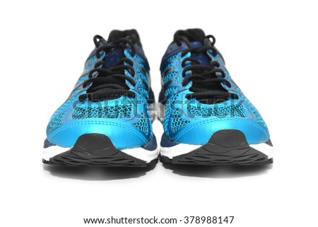 a pair of sport shoes   - stock photo