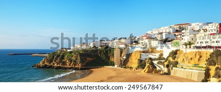 A panorama of Albufeira in Algarve region, Portugal, Europe - stock photo