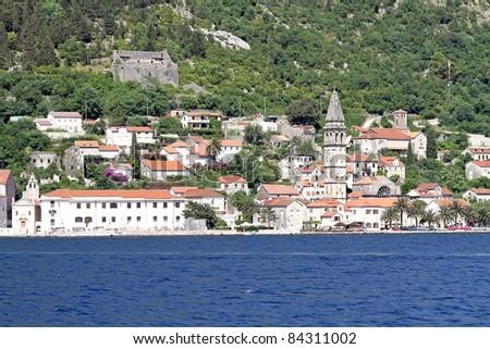 A panorama of Dubrovnik city, Montenegro - stock photo