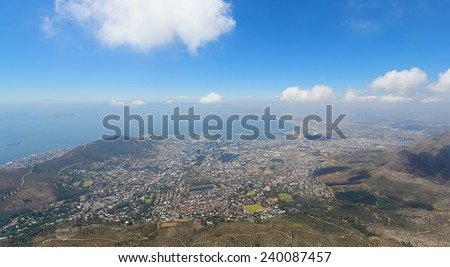 A panoramic view of Cape Town, South Africa - stock photo