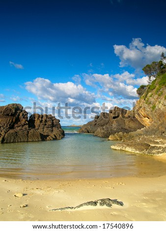 A paradise see through in Australia (seal rocks, near Forster) - stock photo