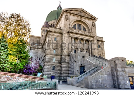 A Part of St. Joseph's Oratory in Montreal HDR image - stock photo