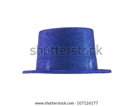 A party hat isolated against a white background - stock photo