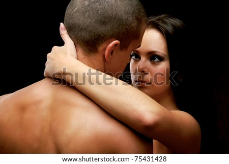 A passionate couple - stock photo