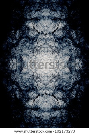 A pattern made ??from pictures of spider webs. - stock photo