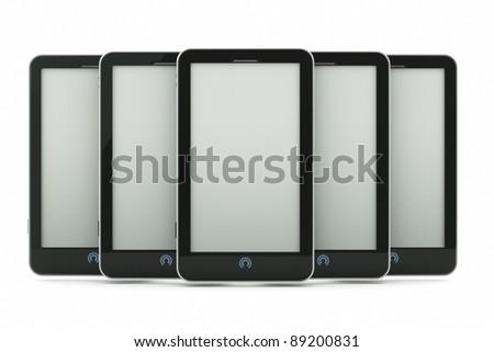a pda's on white - stock photo
