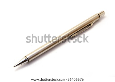 a pen isolated on white - stock photo