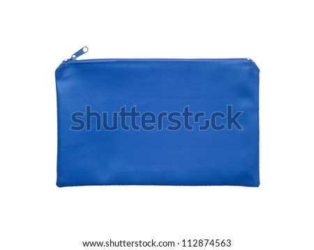 A pencil case isolated against a white background - stock photo