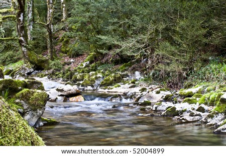 A perfect river in which to go fishing. - stock photo