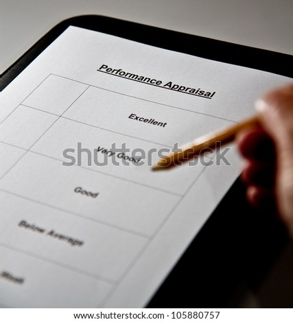 A Performance Appraisal form - stock photo
