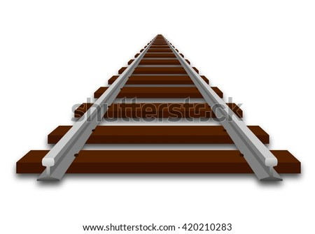 A perspective illustration of track - stock photo