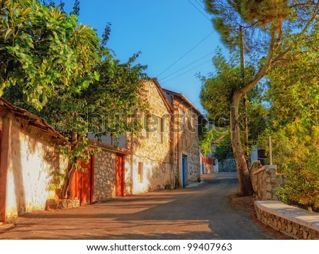 A photo of a Mountain village in Cyprus - stock photo