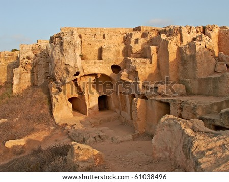 a photo of Archaeological locality in Pafos, Cyprus - stock photo