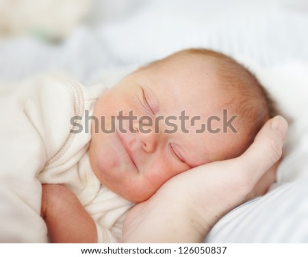 A photo of beautiful baby girl - stock photo