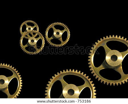 A photo of cogs with a services theme - stock photo