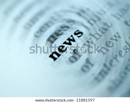 a photo of  new?   word in dictionary - stock photo