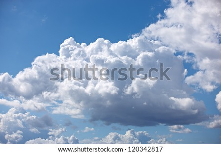 A photo of september clouds - stock photo