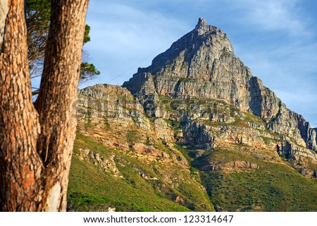 A photo  of Table Mountain, Cape Town, South Africa - stock photo