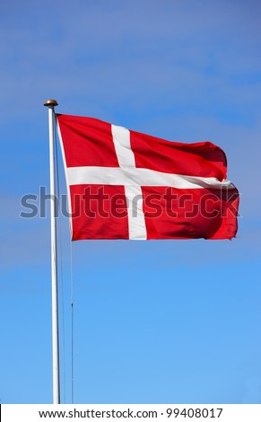 A photo of the Danish flag - stock photo