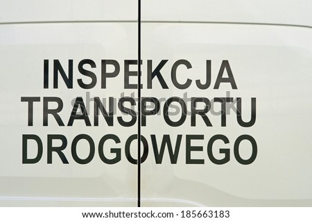a photo of vehicle inspection services, cargo car - stock photo