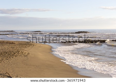A photo of waves in Italy - stock photo