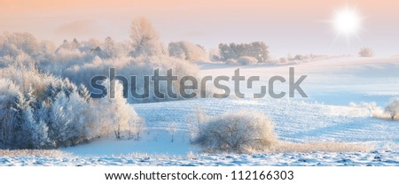 A photo of winter landscape - stock photo