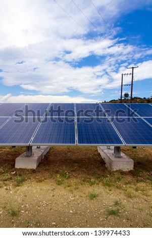 a photo voltaic park in Greece - stock photo