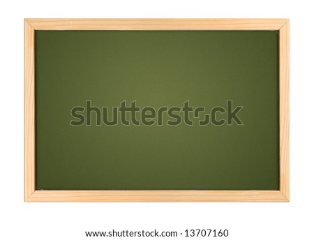 A photography of a small chalk board - stock photo