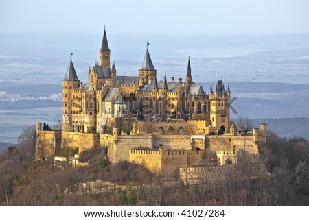 A photography of the german castle Hohenzollern - stock photo