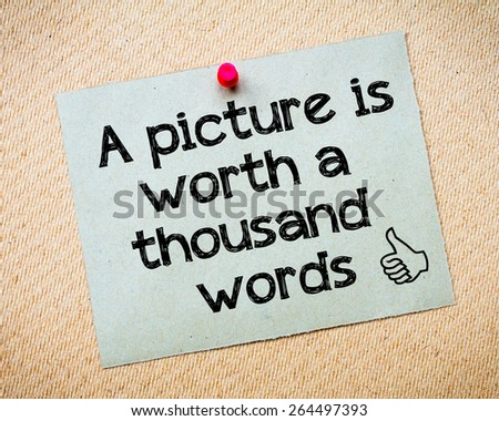 a picture is worth a thousand words essay Define a picture is worth a thousand words: —used to say that it is often easier to show something in a picture than to describe it with words.