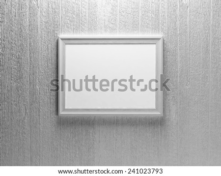 a picture on the white wall, 3d rendering - stock photo