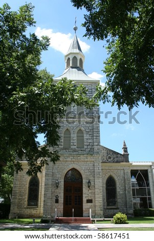 A picturesque church on a sunny day - stock photo