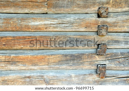 A piece of a wall in a old house - stock photo