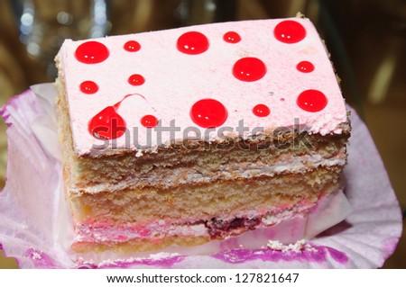 A piece of tasty cake - stock photo