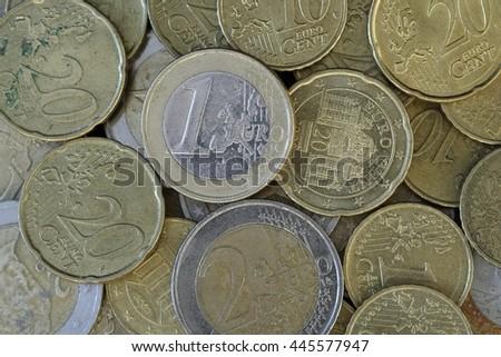 A pile Euro - stock photo