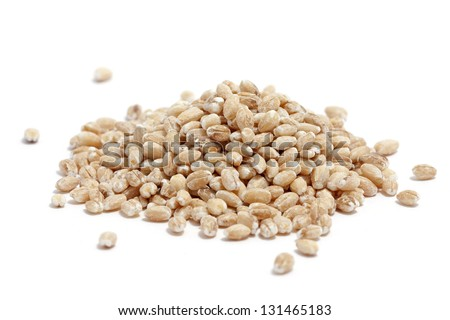 a pile of barley on white - stock photo