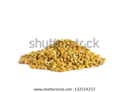 A pile of bee pollen. Bee Pollen is one of the richest and purest natural foods ever discovered, and the incredible nutritional and medicinal value of pollen has been known for centuries. - stock photo