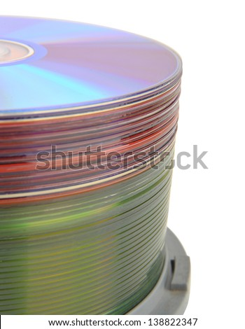 A pile of CD-ROM  - stock photo