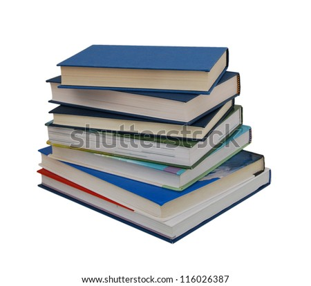A pile of class books - stock photo