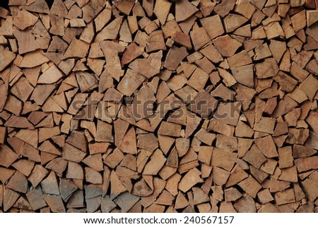 A pile of dry chip wood - stock photo