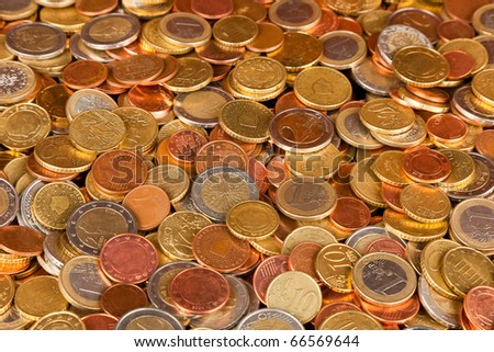 A pile of Euro Coins - stock photo