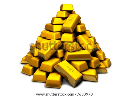 A pile of gold - stock photo