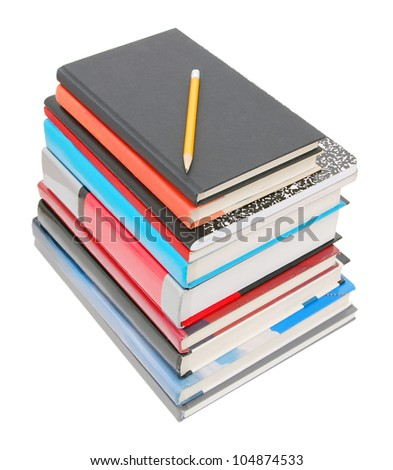 A pile of learning in class - stock photo