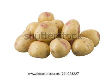 A pile of potatoes, of the variety King Edward. - stock photo