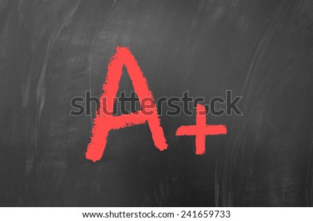 A plus concept on blackboard - stock photo